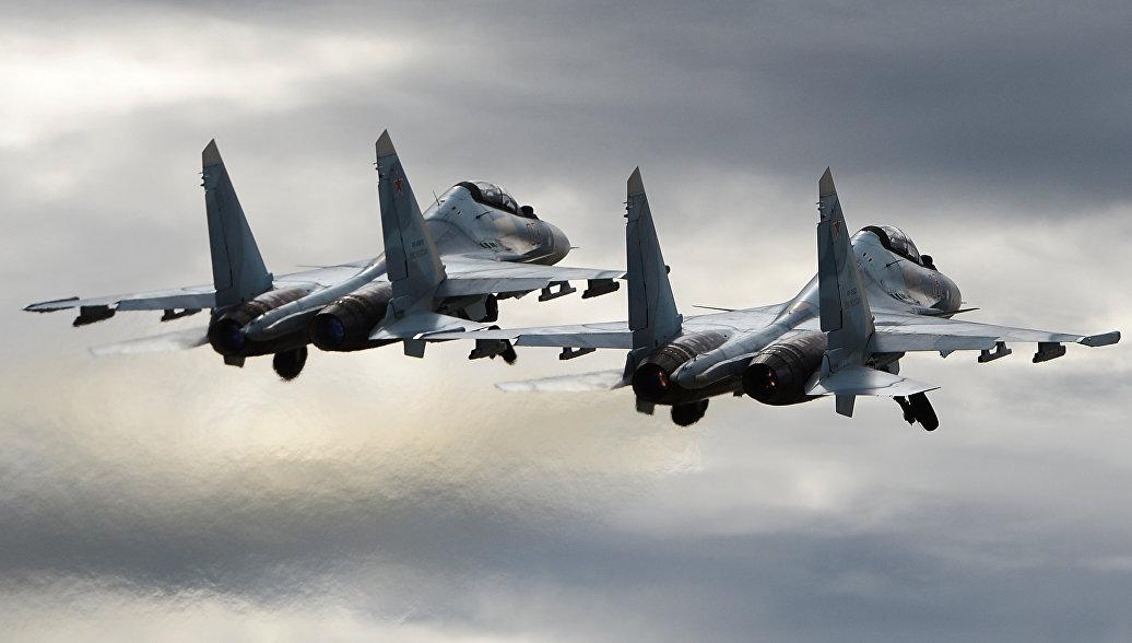 В Минобороны сообщили подробности сближения F-15 и Су-30 над Балтикой