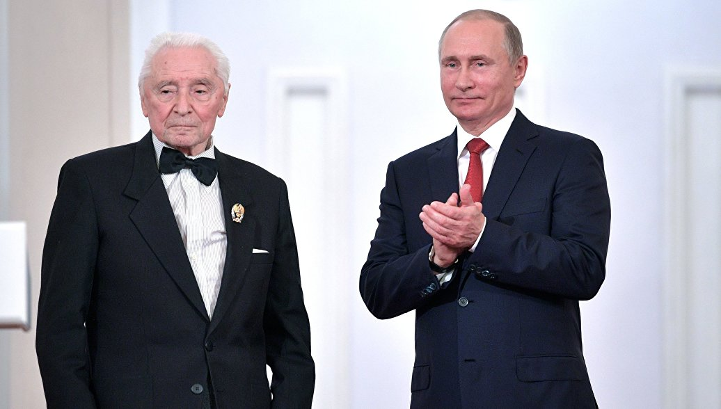Путин поздравил хореографа Юрия Григоровича с днем рождения