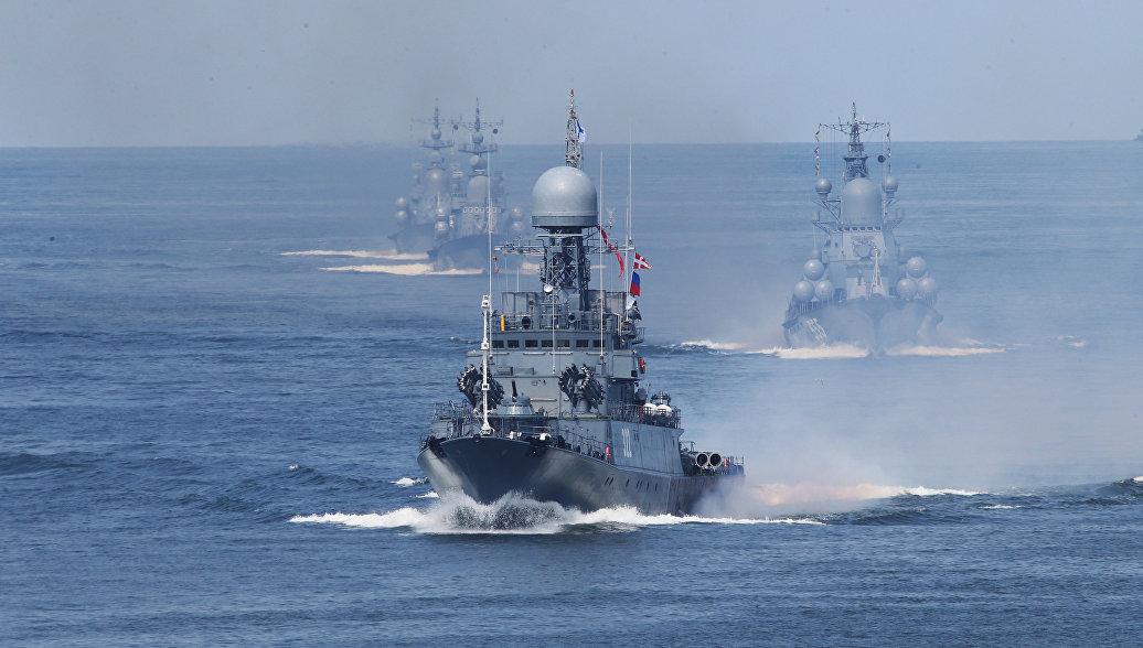 Отряд кораблей Балтийского флота вернулся на базу после дальнего похода