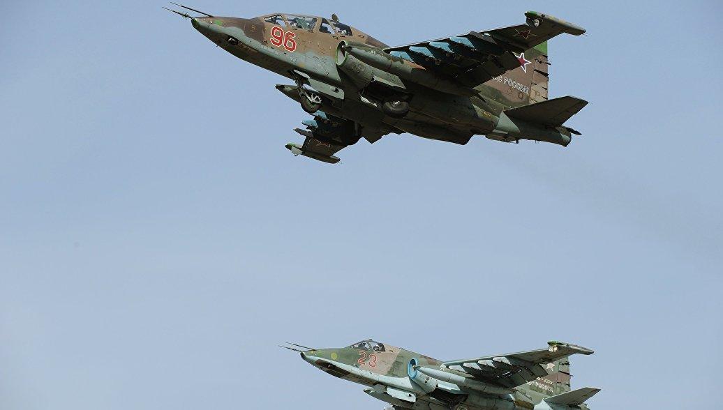 На Кубани штурмовики Су-25СМ уничтожат колонну военной техники