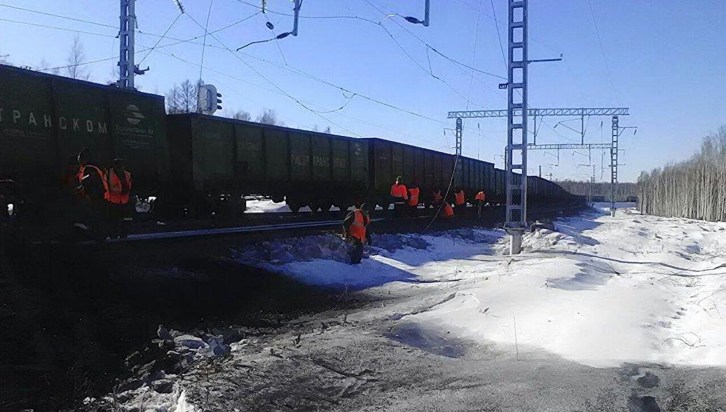 В Приморье четыре пустых вагона сошли с рельсов