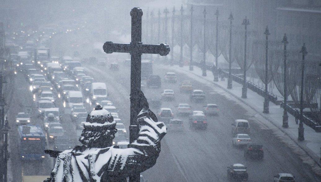 В европейской части России продолжатся снегопады