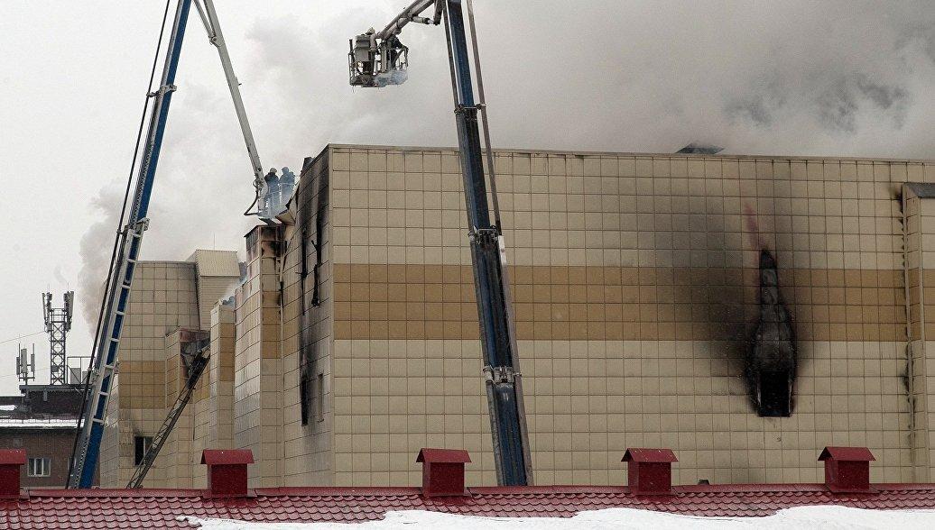 При пожаре в кемеровском ТЦ погибли пять человек