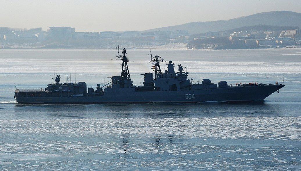 Корабли ТОФ выполнили учебные ракетные стрельбы по подлодке