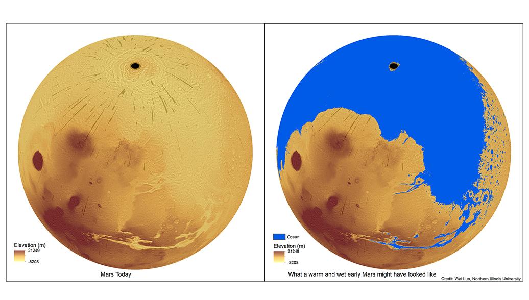 Планетологи выяснили, когда океаны возникли на поверхности Марса