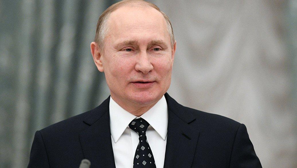 Путин поздравил участников проекта