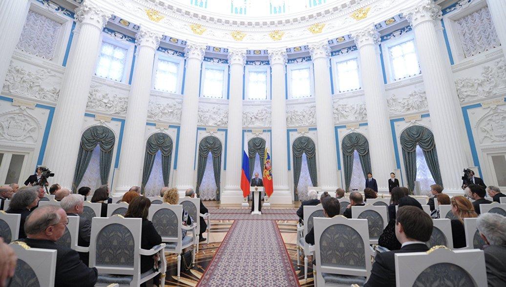 Премии президента в области культуры вручат в Кремле 26 марта