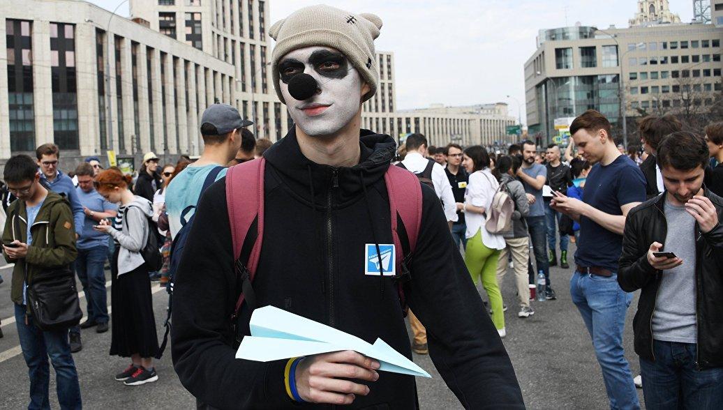 Митинг в поддержку Telegram в Москве собрал 7,5 тысячи человек