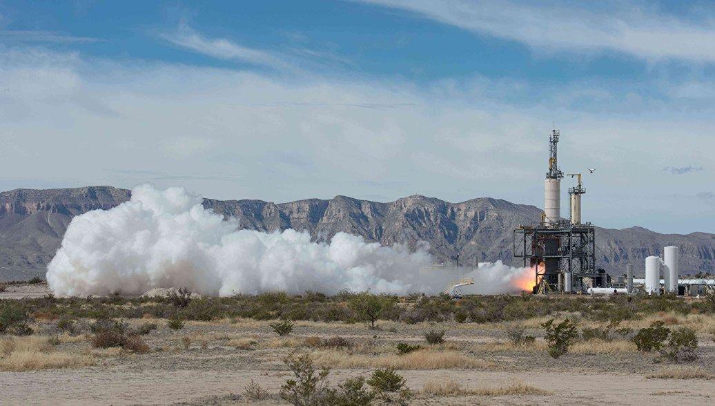 В Техасе стартовала суборбитальная ракета New Shepard
