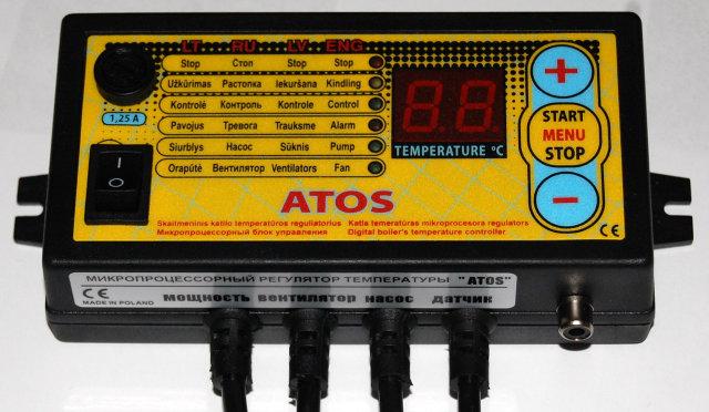Контроллер Atos для твердотопливного котла