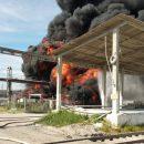 В Братске загорелся подземный резервуар со скипидаром