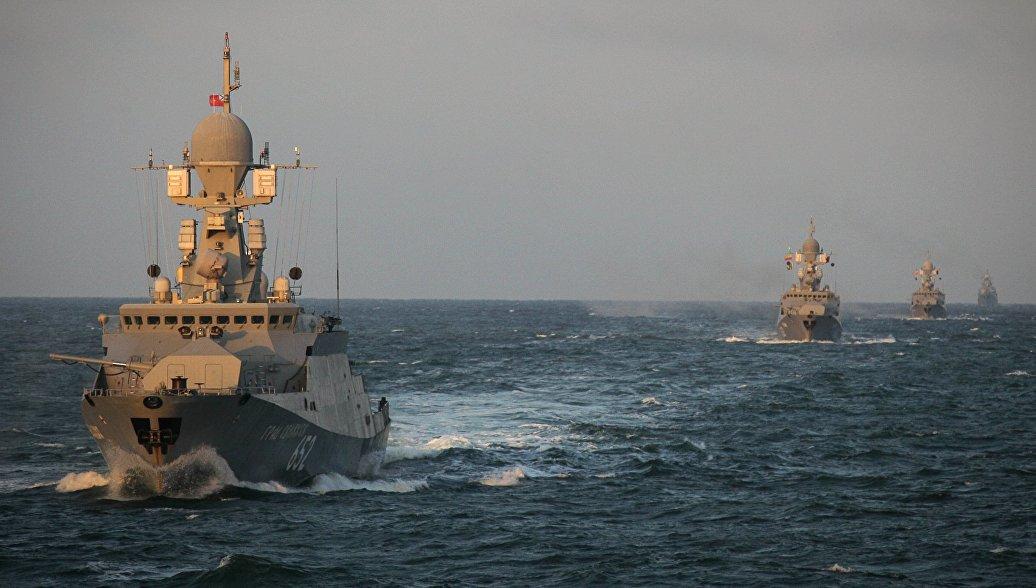 Российские ракетные корабли вышли в Средиземное море
