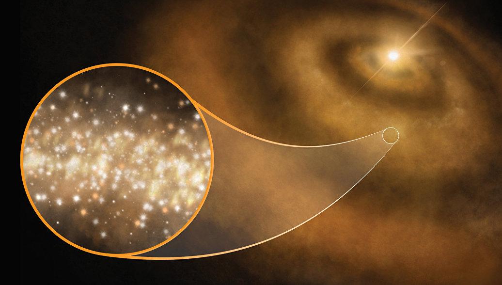Астрономы открыли звезды, окруженные облаками наноалмазов