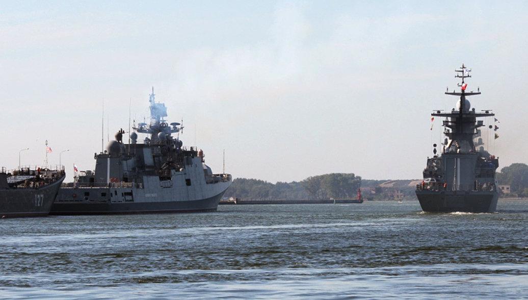 Корабли Балтийского флота прибыли в Санкт-Петербург для участия в параде