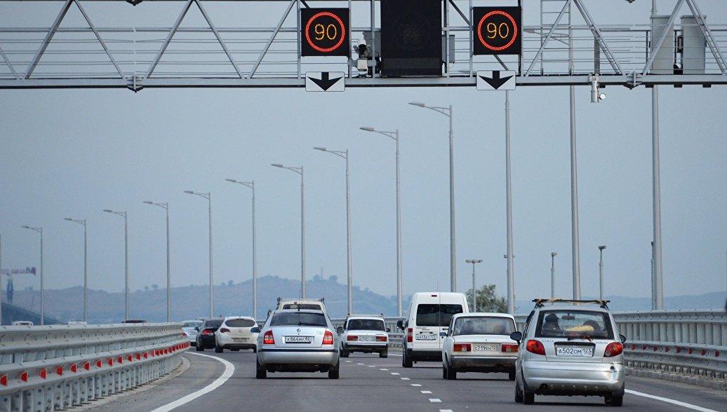 Интенсивность движения по Крымскому мосту возросла