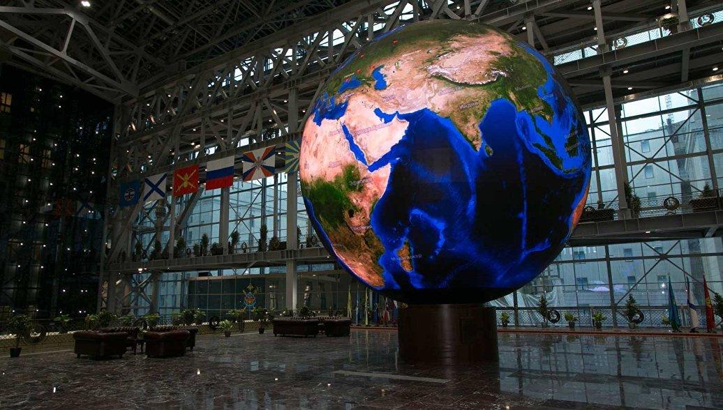 Минобороны показало свой самый большой сферический экран
