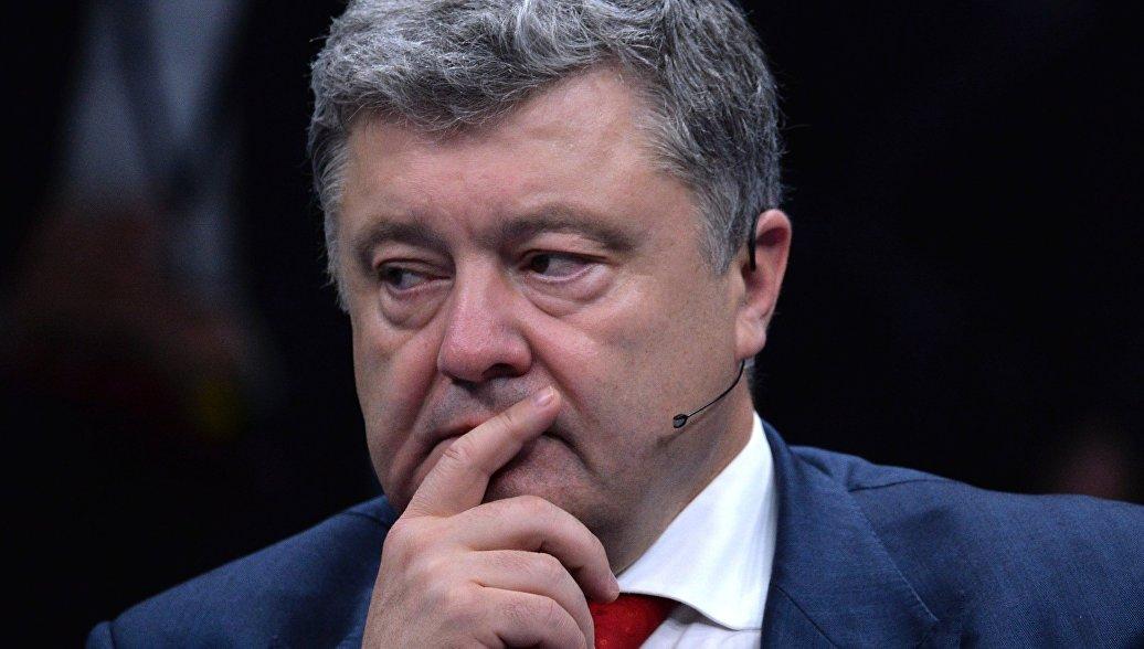 МИД показал видео выступления Порошенко перед пустым залом