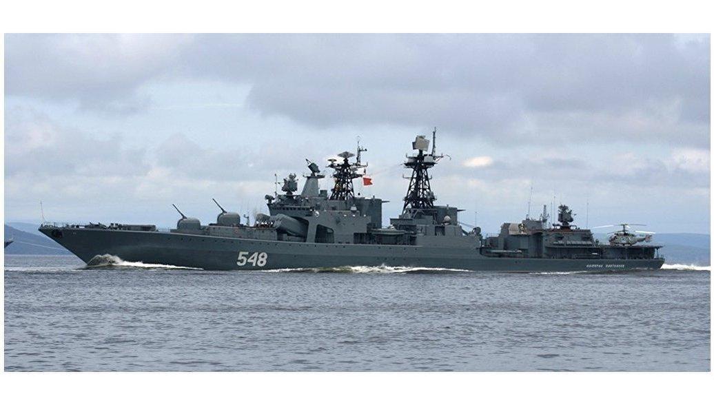 Российские корабли атаковали подлодку условного противника на учениях в Японском море