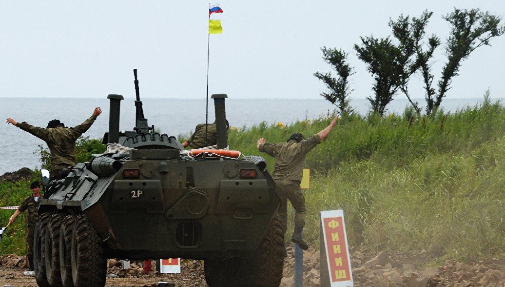Российские десантники стали лучшими в эстафете