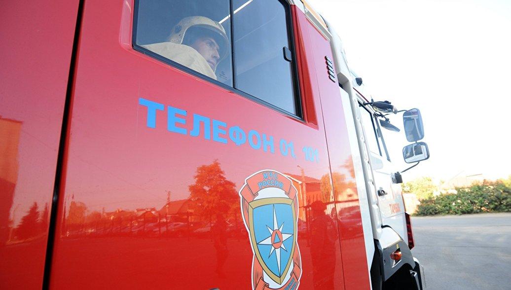 В Кабардино-Балкарии загорелось пустующее здание