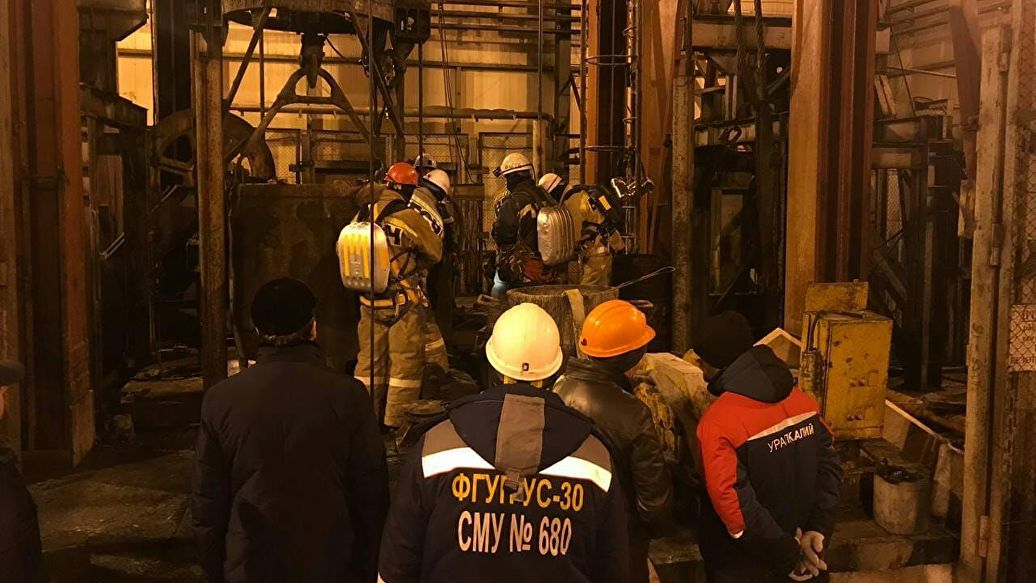 Спасатели остановили спуск в шахту в Соликамске из-за высокой температуры