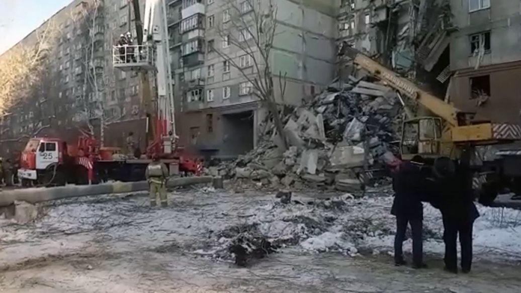Работы на месте ЧП в Магнитогорске будут вести круглосуточно