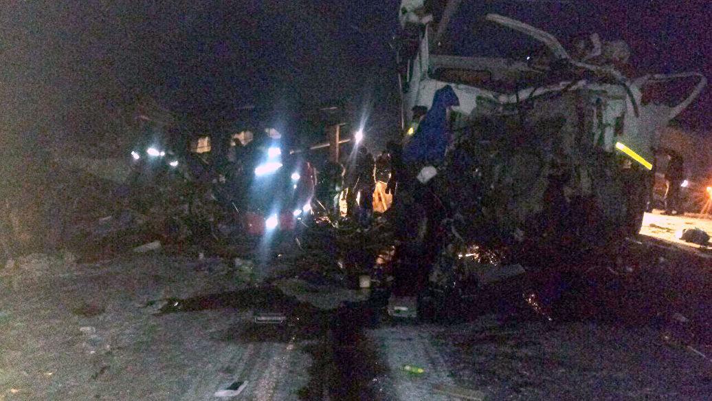 Возгорания на месте столкновения бензовозов и автобуса в Югре не было