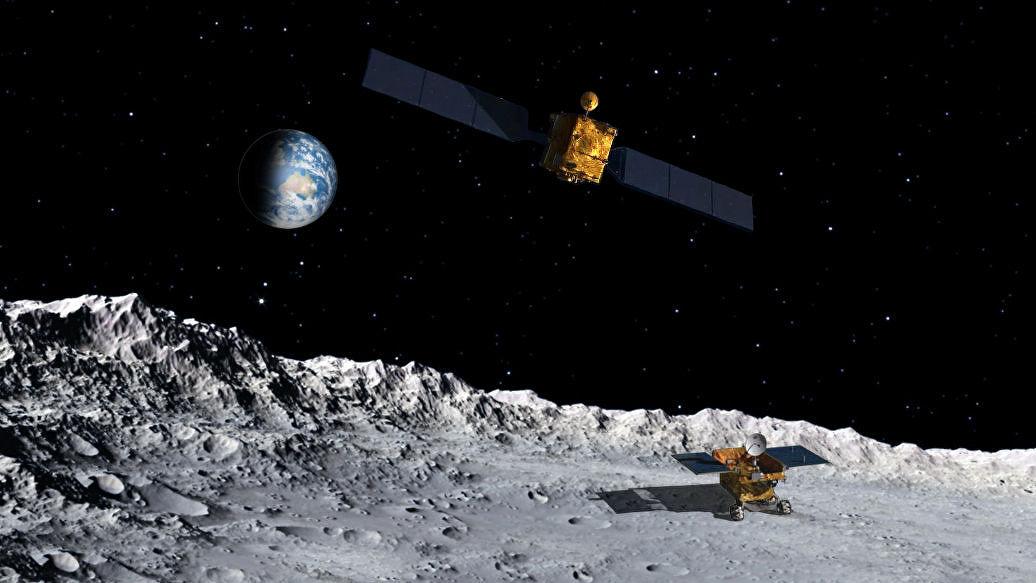 Китайский луноход на обратной стороне Луны