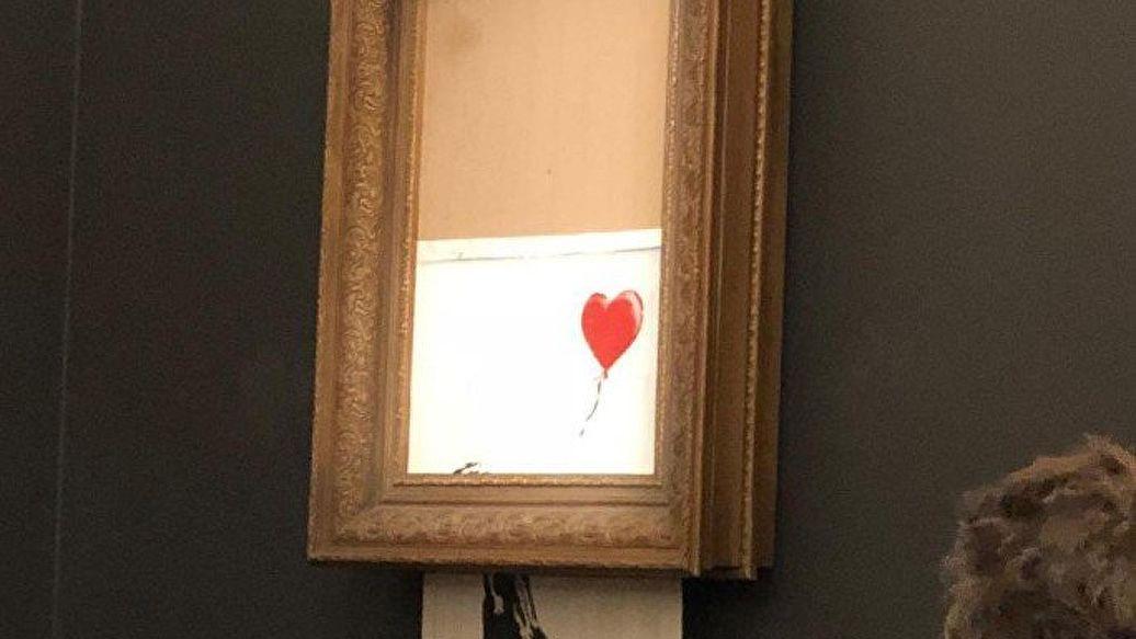 Картину Бэнкси, самоуничтожившуюся после аукциона, выставят в Германии