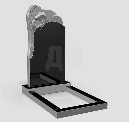 Статуи на могилу из черного гранита от компании