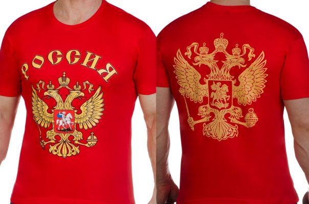Купить футболки с символикой России недорого