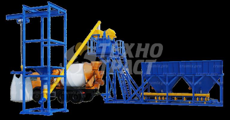 Компания «Технотраст» предлагает различные варианты мобильных бетонных заводов