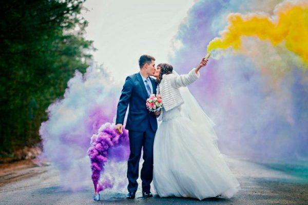 Цветные дымовые шашки на свадьбу, праздник, фотосессию и выпускной вечер