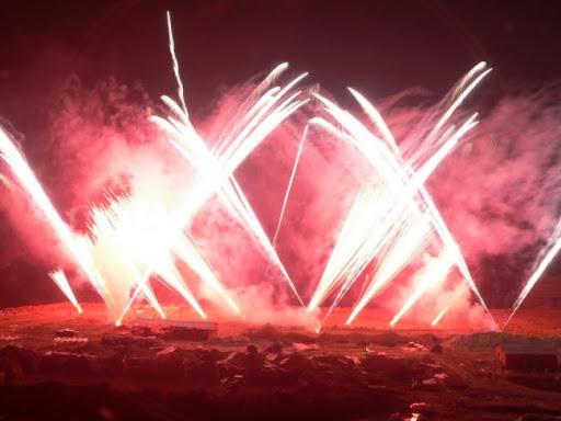 Римские свечи-фейерверки в Костроме